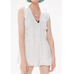 Urban Outfitters Pants - UO Anya Eyelet Button-Front Romper